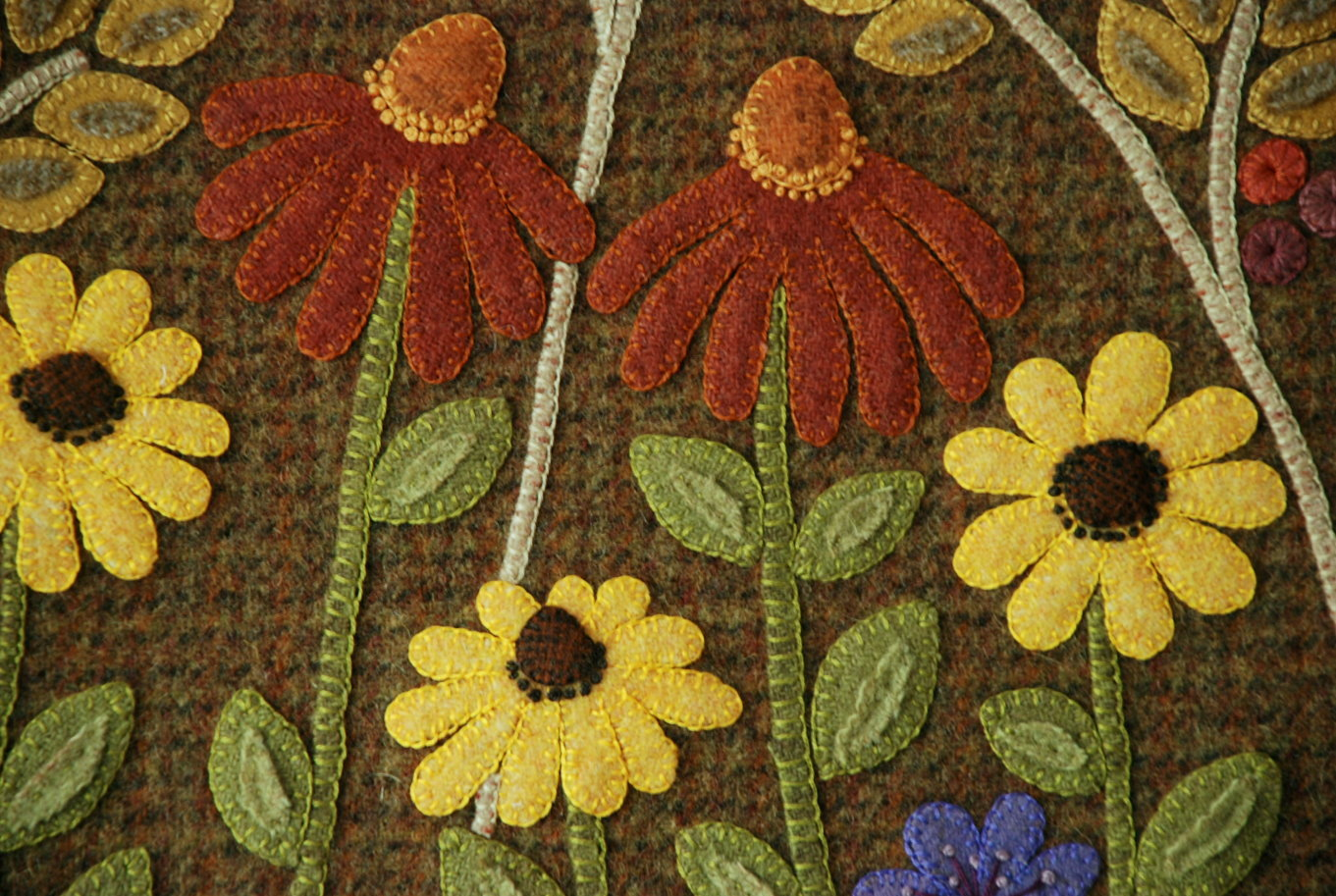 Wool applique patterns by designer a piece of work page